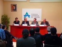 Els vicepresidents de la Diputació Ferran Civil i Josep Llobet visiten el Consell Comarcal de l'Anoia
